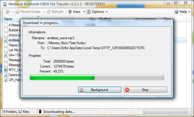 Click to view Bluetooth File Transfer screenshots